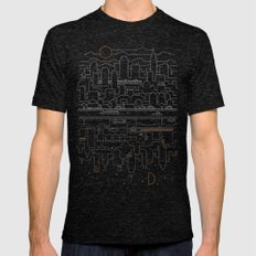 City 24 Mens Fitted Tee Tri-Black SMALL