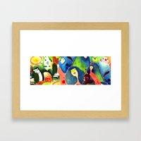 Moss and birds Framed Art Print