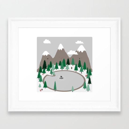 Lake Monster Framed Art Print