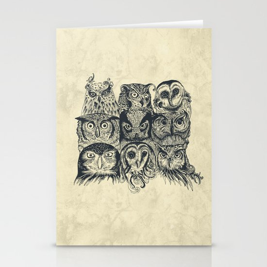 Nine Owls Stationery Card