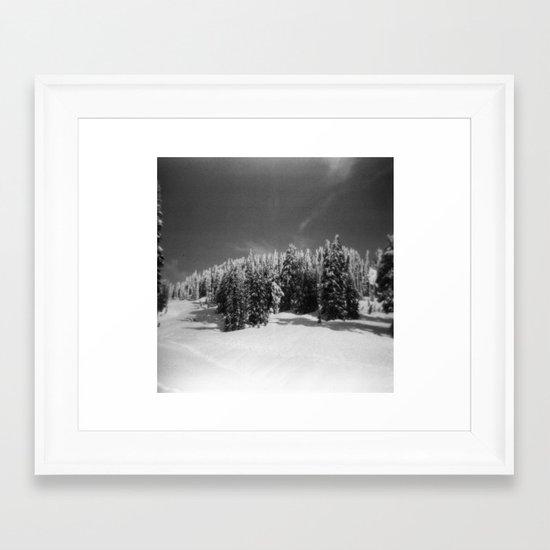 snow-capped Framed Art Print