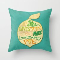 Lemon Meringue Pie Throw Pillow