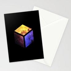 Nebula Cube - Black Stationery Cards