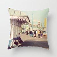 A summer walk Throw Pillow
