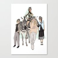 Stripe Tease Canvas Print