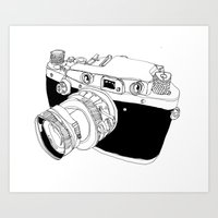 Camera Drawing Art Print