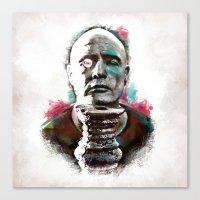 Marlon Brando under brushes effects Canvas Print