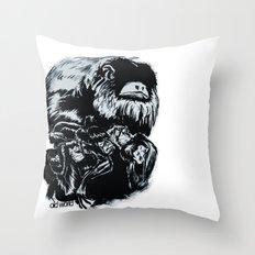 Old World Monkeys Throw Pillow