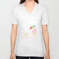 Cloudy With A Chance of Sprinkles Unisex V-Neck