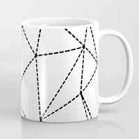 Abstract Dotted Lines Bl… Mug