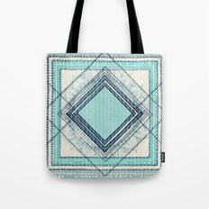 Teal Quilt  Tote Bag