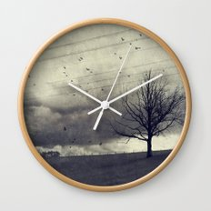 one of these days - autumn mood Wall Clock