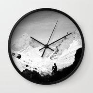 Wall Clock featuring Snowy Isolation by Stoian Hitrov - Sto