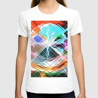 Harlekin Abstrakt. Womens Fitted Tee White SMALL