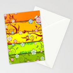 Colorful Florals Stationery Cards