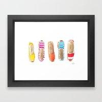Summer Espadrilles Framed Art Print