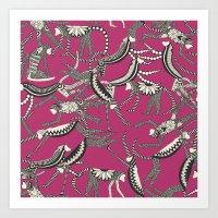 Monkey Pink Art Print