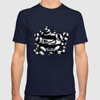 SPOOKY Mens Fitted Tee Navy SMALL