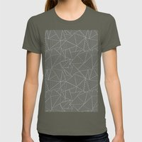 Ab 2 R Black and Grey Womens Fitted Tee Lieutenant SMALL