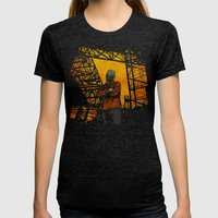 Industry Womens Fitted Tee Tri-Black SMALL