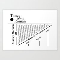 The Times New Roman Art Print