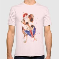 LONDON - Jack Russell Ar… Mens Fitted Tee Light Pink SMALL