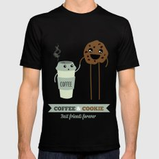 COFFEE & COOKIE Mens Fitted Tee Black SMALL