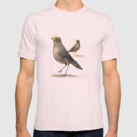 Chilean Fieldfare Mens Fitted Tee Light Pink SMALL