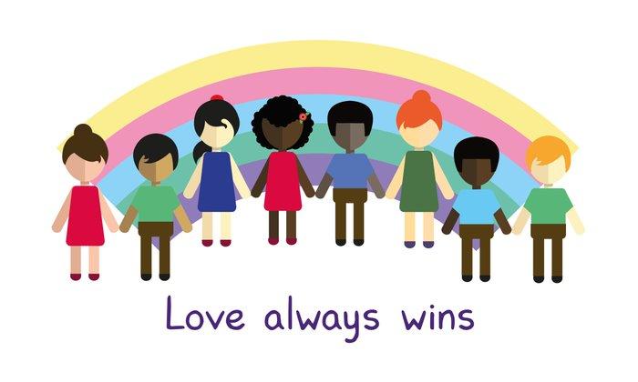 Love always wins Art Print by Juliana Motzko | Society6