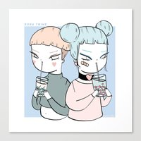 BOBA TWINS Canvas Print