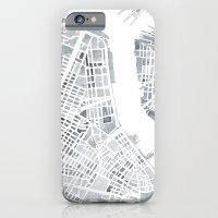 Map Manhattan Gray NYC iPhone 6 Slim Case
