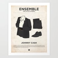 Ensemble - Johnny Cash Art Print