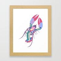 Pink Lobster Framed Art Print