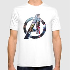 The Avengers 2 SMALL White Mens Fitted Tee