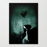 12 Crows/ Nettles  Canvas Print