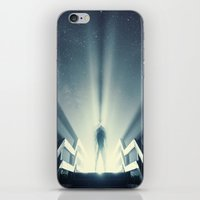 Beaming Light under the Stars iPhone & iPod Skin