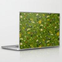 moonrise kingdom Laptop & iPad Skins featuring Moonrise Kingdom plot pattern by Dan Lehman