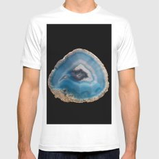 Blue Geode Mens Fitted Tee White SMALL