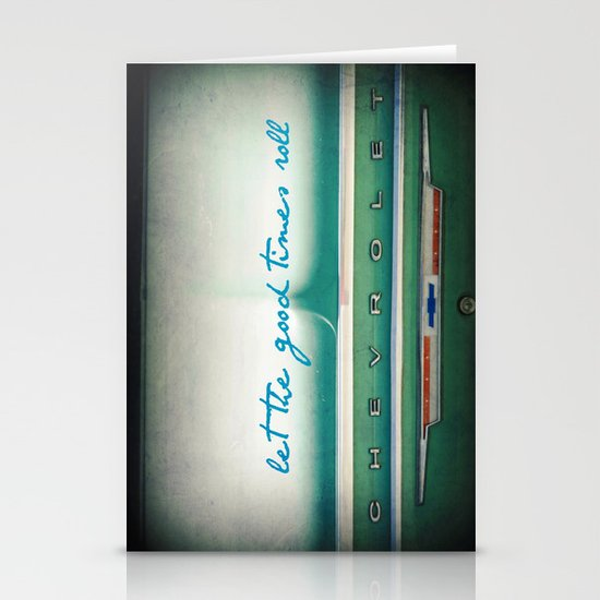 let the good times roll Stationery Card
