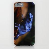 iPhone & iPod Case featuring Blue Poison Dart Frog Azureus by Kimberly Sulzer-Girlwithafrogtattoo