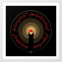 lord of the rings Art Prints featuring The Lord of the Rings by Ian Wilding