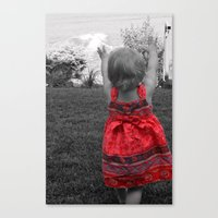 Happy Red Dress Canvas Print