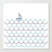 Sail Boat on Water Canvas Print