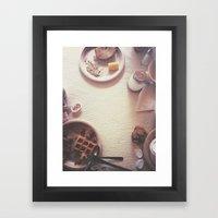 Continental Breakfast Framed Art Print