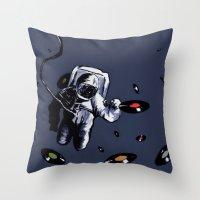 Interstellar Record Hunt Throw Pillow