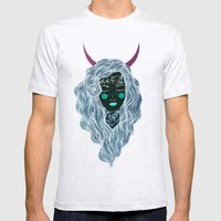 Moon girl Mens Fitted Tee Ash Grey SMALL