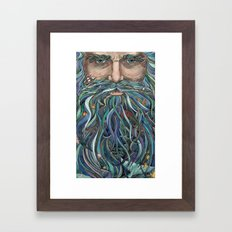 The Old man Ocean  Framed Art Print