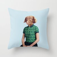 Miss Moony Throw Pillow