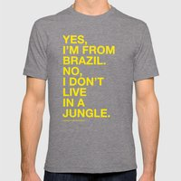 From Brazil III Mens Fitted Tee Tri-Grey SMALL