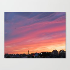 Sunset over the Hudson Canvas Print